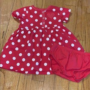 Girls Poca Dot Dress
